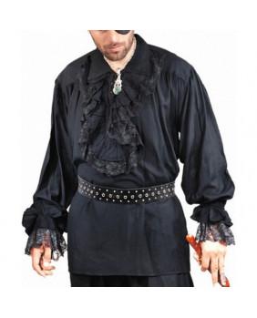 Chemise gothique victorienne noire