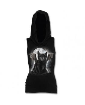 Haut à capuche gothique Bat Cat