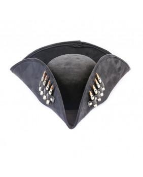 Tricorne noir à balles