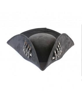 Tricorne noir de pirate