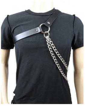 Haranis gothique cuir et chaines