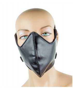 Masque gothique en cuir noir