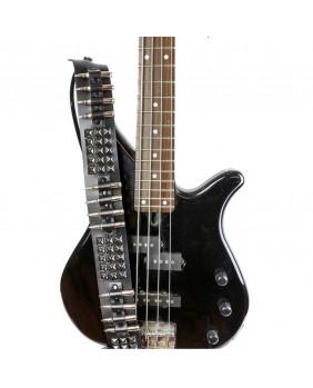 Sangle de guitare gothique cuir studs noirs/balles en nickel