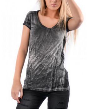 Tee shirt vintage femme gris nuancés