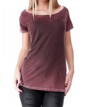 T-shirt vintage bordeaux en coton