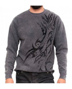 Sweat tribal gris homme