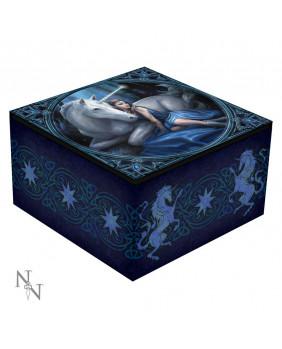 Boite à bijoux licorne Blue Moon