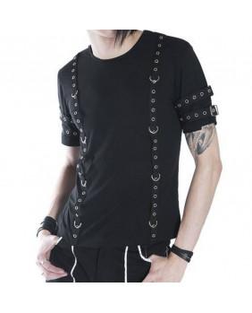 Teeshirt gothique punk noir