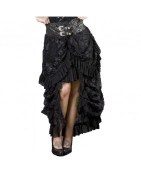 Jupe gothique taille argenté Elvira