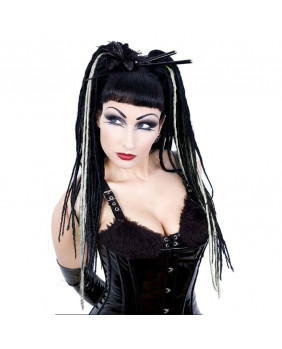 Rajout gothic Vicious dreads blanches