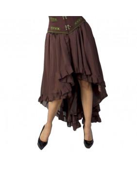 Jupe marron steampunk victorienne Elizium