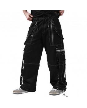 Pantalon baggy gothique métal noir