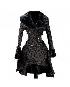 Manteau gothique victorien Black Queen