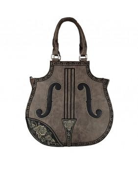 Sac violon marron steampunk Victorien