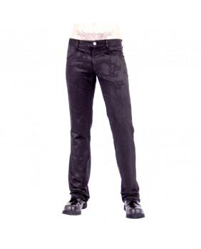 Pantalon gothique noir tribal