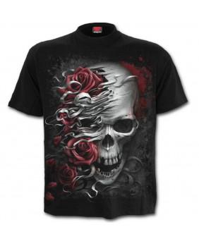 Tee shirt gothique enfant Skull N Roses