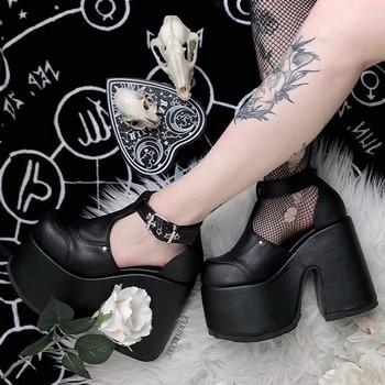 Chaussure plateforme gothique