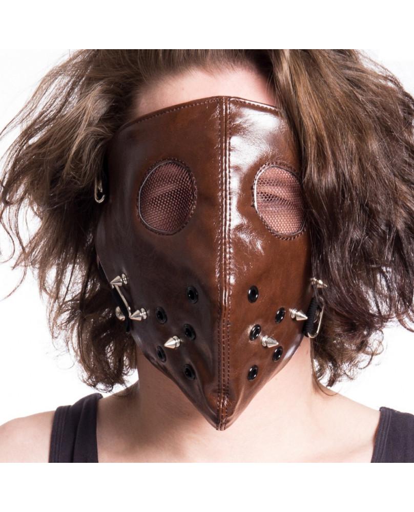 Masque face marron HANNIBAL - POIZEN