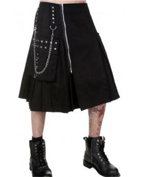 Kilt gothique noir clouté