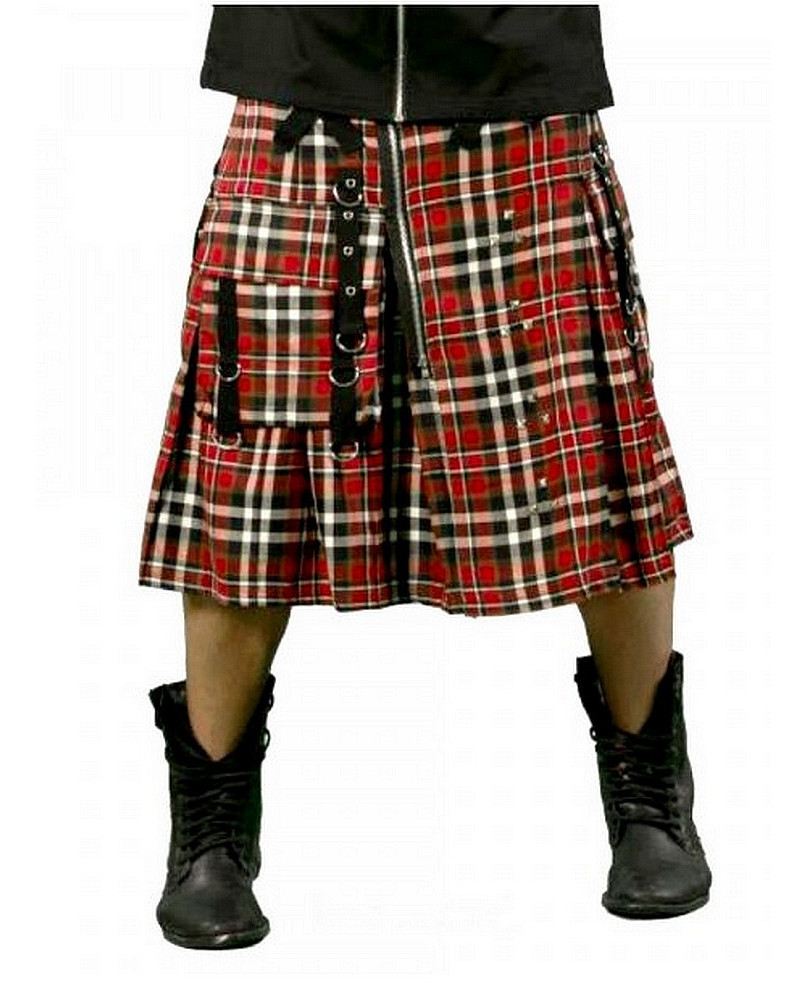 Kilt écossais rouge avec poche