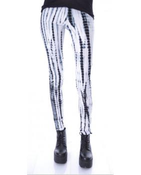 Legging Punk Rock blanc et noir DEJA