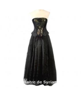 Robe gothique longue Black Gold