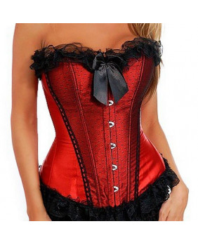 Corset rouge Sexy Lace