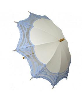 Ombrelle lolita blanche et bleue