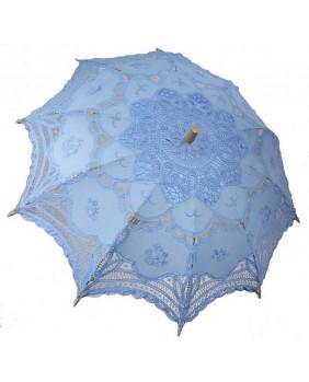 Ombrelles gothique dentelle bleue