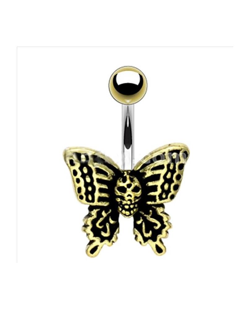 Piercing de nombril papillon