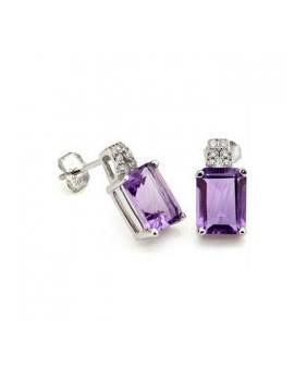 Boucles d'oreilles gothic Améthyste violette