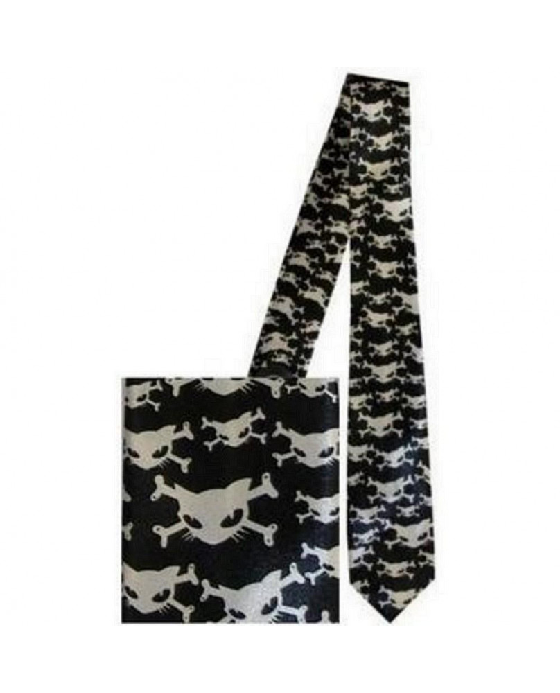 Cravate gothique chat TIE1011