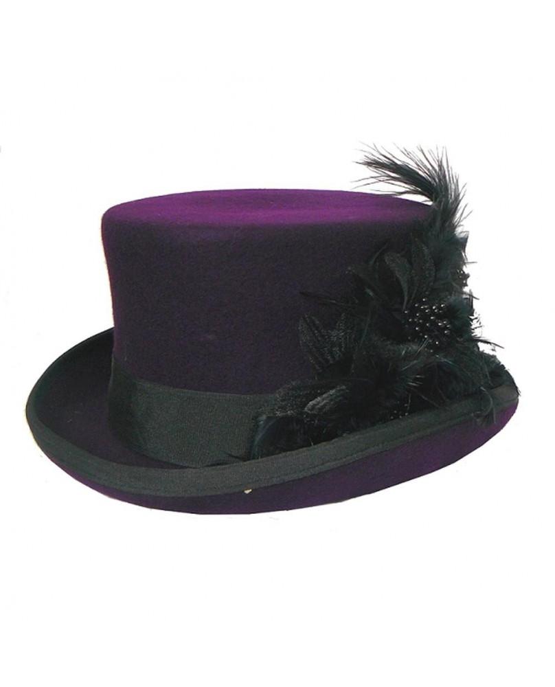 Chapeau gothique violet