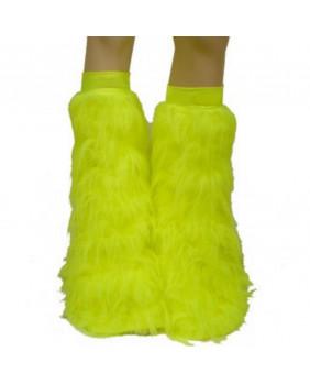 Leg warmers cyber gothique jaune fluo