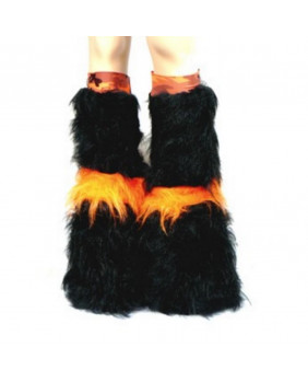 Leg warmers cyber gothique orange camo