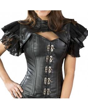 Boléro noir gothique steampunk Sonya