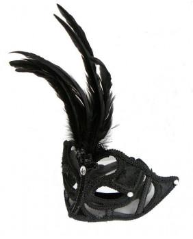 Masque gothique velours noir