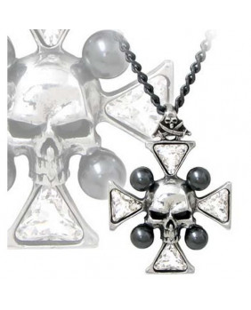 Collier Alchemy Gothic St John's Crystalbone Cross