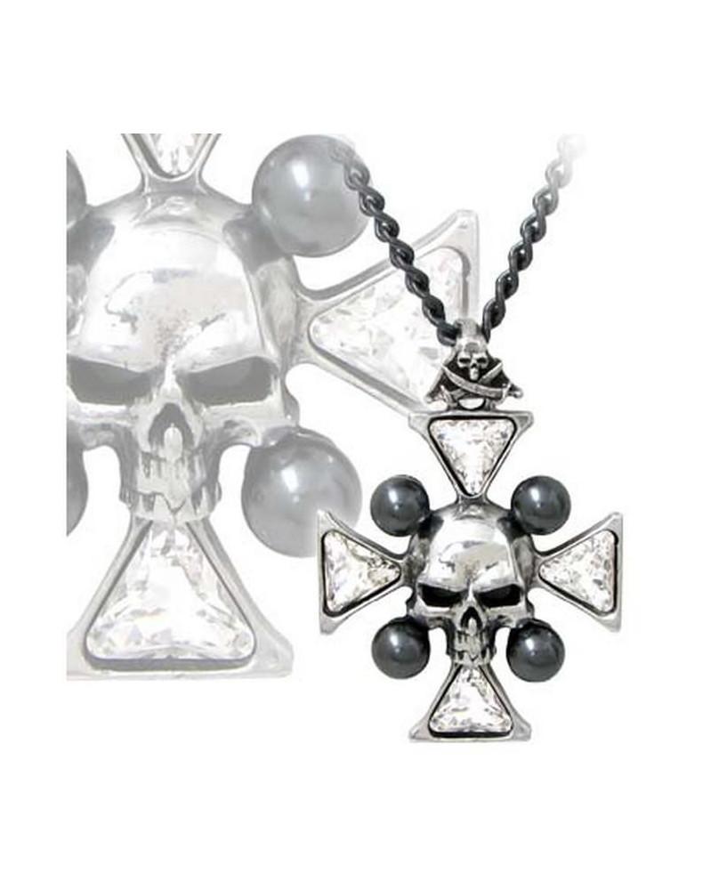 Collier Alchemy Gothic St John's Crystalbone Cross