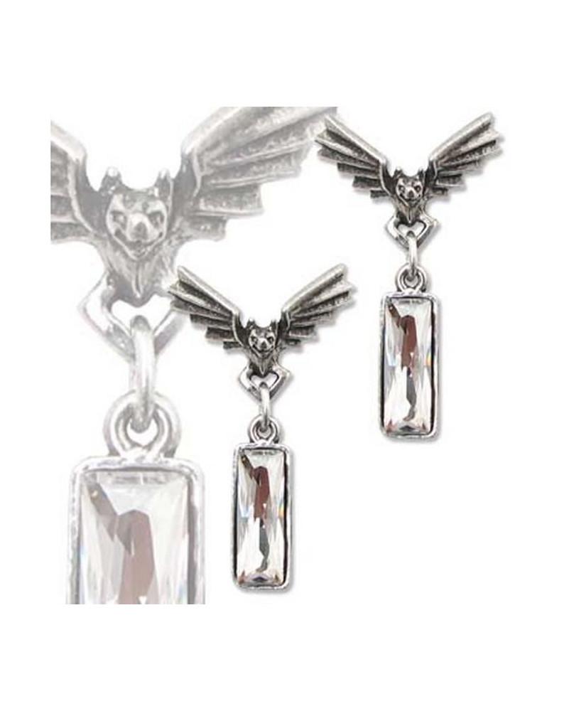 Boucles d'oreille Alchemy Gothic Chrysler Bat Crystal Studs