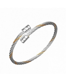 Bracelet acier torsadé