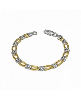 Bracelet argenté et doré