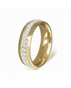 Bague anneau jaune