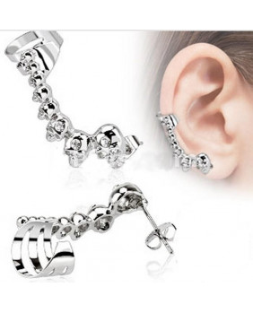 Bijoux d'oreille tête de mort droit