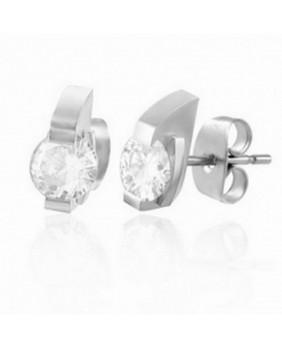 Boucle d'oreille avec cristal CZ