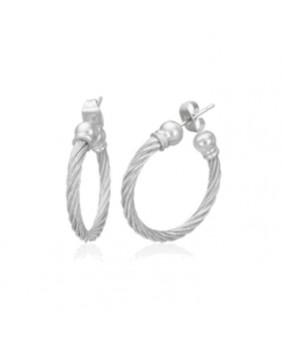 Boucles d'oreilles cable