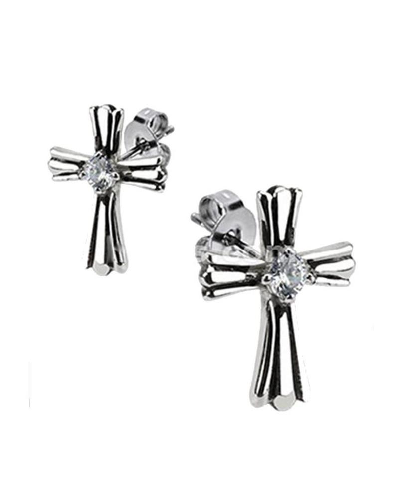 Boucles d'oreilles croix royal