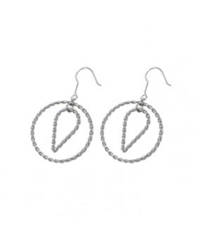 Boucles d'oreilles stainless steel torsadé