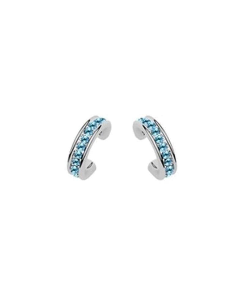 Boucles d'oreilles cristaux bleus