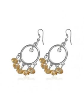 Boucles d'oreilles fantaisies perles Ambres